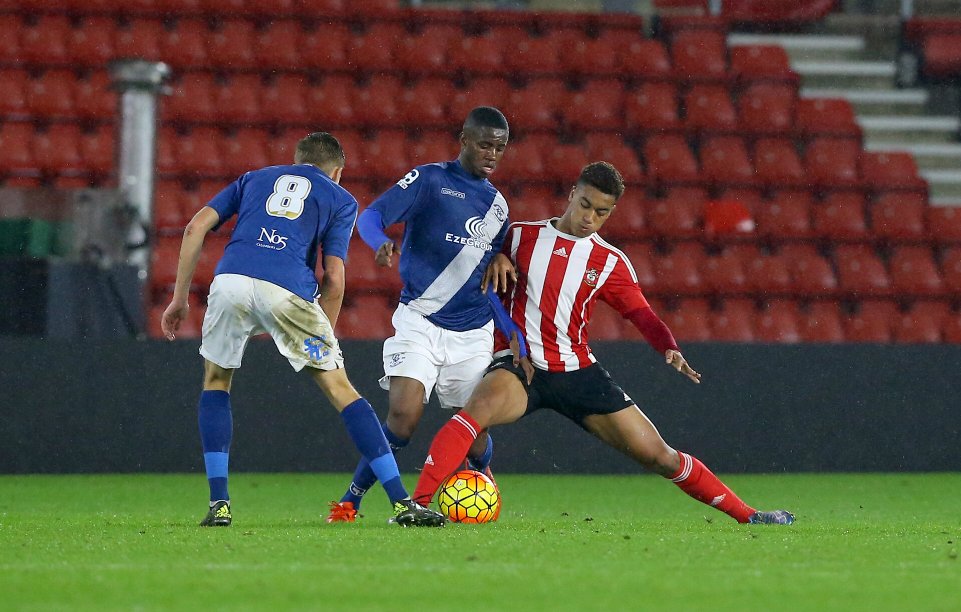 Yan Valery during the FA Youth Cup game between Southampton and Birmingham City, at St Mary's stadium, Southampton, 10th December 2015
