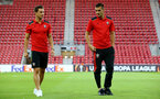 Cedric and Dusan Tadic during the UEFA Europa League match between Hapoel Be'er Sheva F.C. and Southampton at Turner Stadium, Beersheba, Israel on 29 September 2016. Photo by Matt  Watson/SFC/Digital South.