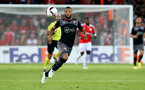 Nathan Redmond during the UEFA Europa League match between Hapoel Be'er Sheva F.C. and Southampton at Turner Stadium, Beersheba, Israel on 29 September 2016. Photo by Matt  Watson/SFC/Digital South.