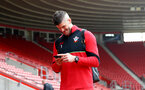 Fraser Forster during the Premier League match between Southampton and Chelsea at St Mary's Stadium, Southampton, England on 30 October 2016. Photo by Matt Watson/SFC/Digital South.