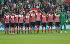 A minute silence during the Premier League match between Southampton and Chelsea at St Mary's Stadium, Southampton, England on 30 October 2016. Photo by Matt Watson/SFC/Digital South.