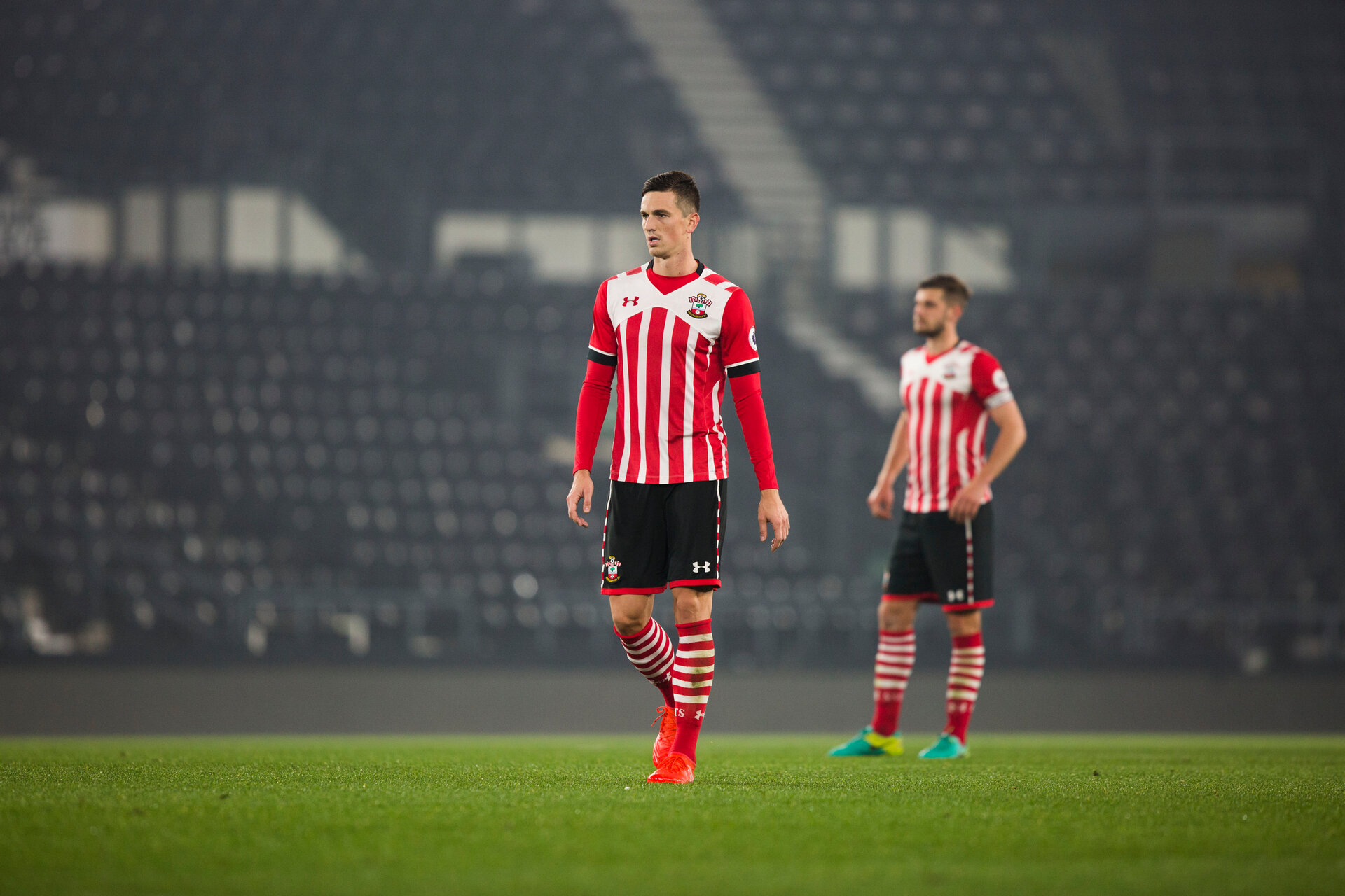 florin gardos during Southampton FC U23 v Derby County U23, at the iPro arena , Derby, 31st october 2016, pic by Naomi Baker/Southampton FC