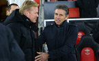 Claude Puel and Romald Koeman during the Premier League match between Southampton and Everton at St Mary's Stadium, Southampton, England on 27 November 2016. Photo by Matt  Watson/SFC/Digital South.