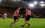 Charlie Austin celebrates during the Premier League match between Southampton and Everton at St Mary's Stadium, Southampton, England on 27 November 2016. Photo by Matt  Watson/SFC/Digital South.