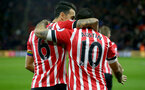 Jose Fonte and Charlie Austin during the Premier League match between Southampton and Everton at St Mary's Stadium, Southampton, England on 27 November 2016. Photo by Matt  Watson/SFC/Digital South.