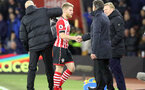 Josh Sims (Southampton) and Claude Puel (Southampton Manager) shake hands during the Premier League match between Southampton and Everton at St. Mary's Stadium on 27 November 2016. Photo by Michael Jones/Digital South