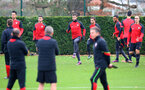 Charlie Austin during a Southampton FC training session at The Staplewood Campus, 7th December 2016
