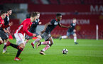 jonathan afolabi during Southampton FC U18 v Manchester United U18 in the FA youth cup, at Old Trafford, Manchester, 12th December 2016, pic by Naomi Baker/Southampton FC
