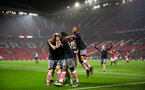 team celebrate with thomas o'connor during Southampton FC U18 v Manchester United U18 in the FA youth cup, at Old Trafford, Manchester, 12th December 2016, pic by Naomi Baker/Southampton FC