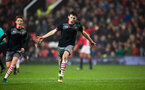 thomas o'connor celebrates after scoring during Southampton FC U18 v Manchester United U18 in the FA youth cup, at Old Trafford, Manchester, 12th December 2016, pic by Naomi Baker/Southampton FC