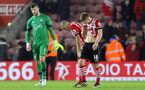 Fraser Forster (Southampton), Oriol Romeu (Southampton) and James Ward-Prowse (Southampton) look dejected after the game during the Premier League match between Southampton and West Bromwich Albion at St Mary's Stadium, Southampton, England on 31 December 2016.