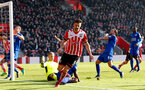 Jay Rodriguez celebrates during the Premier League match between Southampton and Leicester City at St Mary's Stadium, Southampton, England on 21 January 2017. Photo by Naomi Baker/SFC/Digital South.