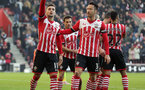 Dusan Tadic (Southampton) celebrates making it 3-0 from the penalty spot during the Premier League match between Southampton and Leicester City at St Mary's Stadium, Southampton, England on 22 January 2017.