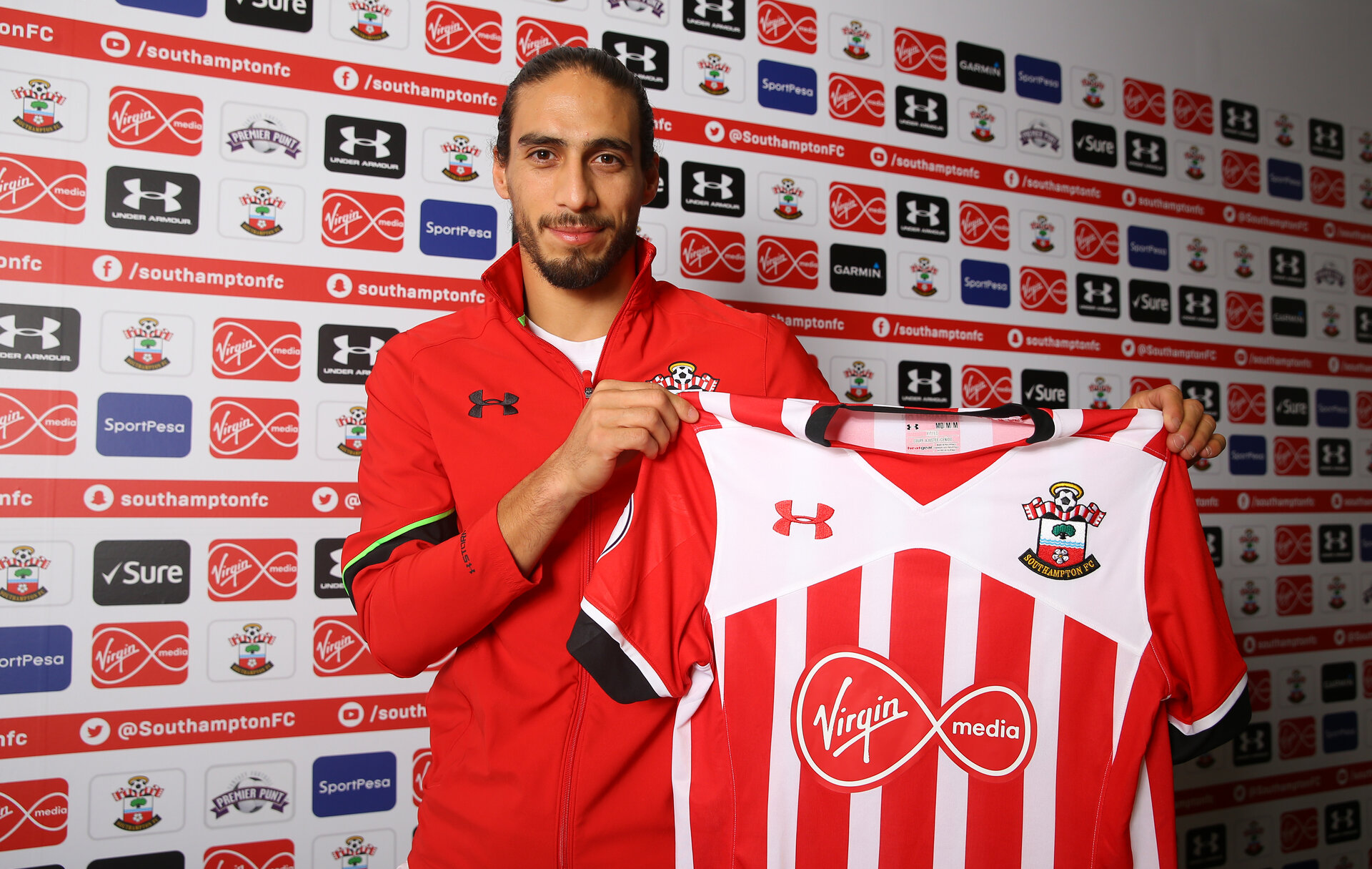 Martin Caceres signs for Southampton FC until the end of the season, pictured at the Staplewood Campus, Southampton, 16th February 2017