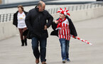 LONDON, UK, 26TH FEBRUARY, 2017. A Southampton fan gets in the spirit before the EFL Cup Final match between Manchester United and Southampton at Wembley Stadium, London, England on 26 February 2017. Photo by Michael Jones/Digital South.