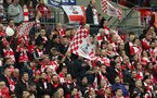 LONDON, UK, 26TH FEBRUARY, 2017. Saints fans support their team during the EFL Cup Final match between Manchester United and Southampton at Wembley Stadium, London, England on 26 February 2017. Photo by Michael Jones/Digital South.