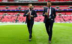 Nathan Redmond(left) and Ryan Bertrand during the EFL Cup Final match between Manchester United and Southampton at Wembley Stadium, London, England on 26 February 2017. Photo by Matt Watson/SFC/Digital South.