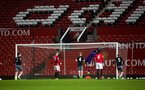 mouez hassen makes a save during Southampton FC U23 v Manchester United U23, at Old Trafford, Manchester, 13th March 2017, pic by Naomi Baker/Southampton FC