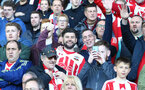 Saints fans during the Premier League match between Bournemouth and Southampton at Vitality Stadium, Bournemouth, England on 18 December 2016. Photo by Matt Watson/SFC/Digital South.