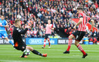 Jay Rodriguez scores but is ruled offside during the Premier League match between Bournemouth and Southampton at Vitality Stadium, Bournemouth, England on 18 December 2016. Photo by Matt Watson/SFC/Digital South.