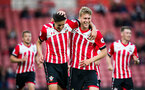 alfie jones and ollie cook celebrate during Southampton FC U23 v Liverpool U23, at St Mary's stadium, Southampton, 10th April 2017, pic by Naomi Baker/Southampton FC