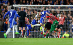 Gary Cahill puts Chelsea 2-1 up during the Premier League match between Chelsea and Southampton at Stamford Bridge, London. Photo by Matt Watson/SFC/Digital South.