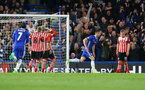Gary Chaill puts Chelsea 2-1 up during the Premier League match between Chelsea and Southampton at Stamford Bridge, London. Photo by Matt Watson/SFC/Digital South.