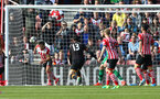 Cedric clears off the line during the Premier League match between Southampton and Hull City at St Mary's Stadium, Southampton, England on 29 April 2017. Photo by Matt Watson/SFC/Digital South.