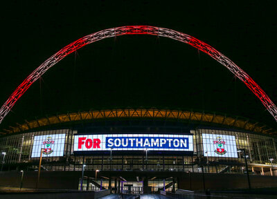 Wembley lit up in Saints colours