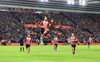 Virgil Van Dijk celebrates during the UEFA Europa League match between Southampton and Inter Milan at St Mary's Stadium, Southampton, England on 3 November 2016. Photo by Tom Bennett/SFC/Digital South.