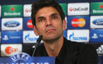 MUNICH, GERMANY - SEPTEMBER 18:  Mauricio Pellegrino, head coach of Valencia talks to the media during a Valencia CF tpress conference  ahead of their UEFA Champions League group F match against FC Bayern Muenchen, at Allianz Arena on September 18, 2012 in Munich, Germany.  (Photo by Alexander Hassenstein/Bongarts/Getty Images)