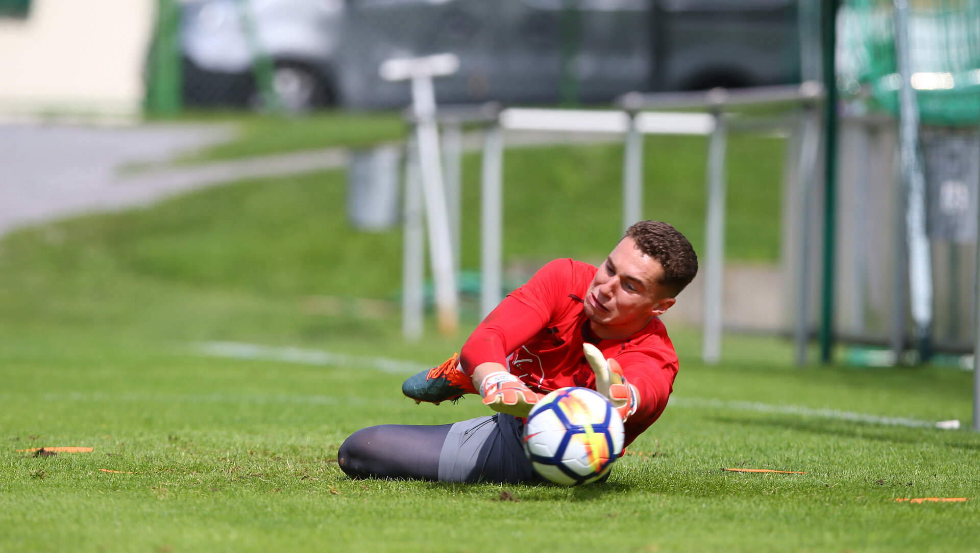 Harry Lewis during a Southampton pre season training session in Schruns, Austria, 11th July 2017