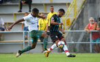 Sofiane Boufal with fans during a pre season friendly between St Etienne(white) and Southampton FC(black), at The Stade Municipal de Chambéry, France, 29th July 2017