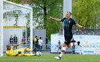 James Ward-Prowse scores during a pre season friendly between St Etienne(white) and Southampton FC(black), at The Stade Municipal de Chambéry, France, 29th July 2017