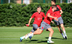 James Ward-Prowse during a Southampton FC pre season training session at the Staplewood Campus, Southampton, 31st July 2017