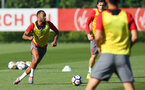 Nathan Redmond during a Southampton FC pre season training session at the Staplewood Campus, Southampton, 31st July 2017