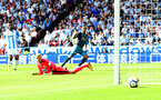 HUDDERSFIELD, ENGLAND - AUGUST 26: Nathan Redmond shoots wide during the Premier League match between Huddersfield Town and Southampton at the John Smith Stadium on August 26, 2017 in Huddersfield, England. (Photo by Matt Watson/Southampton FC via Getty Images)