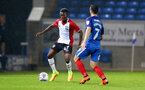 Richard Bakary during the Check a Trade Trophy group stage match between Peterborough United and Southampton FC U21, at ABAX Stadium, Peterborough, 29th August 2017