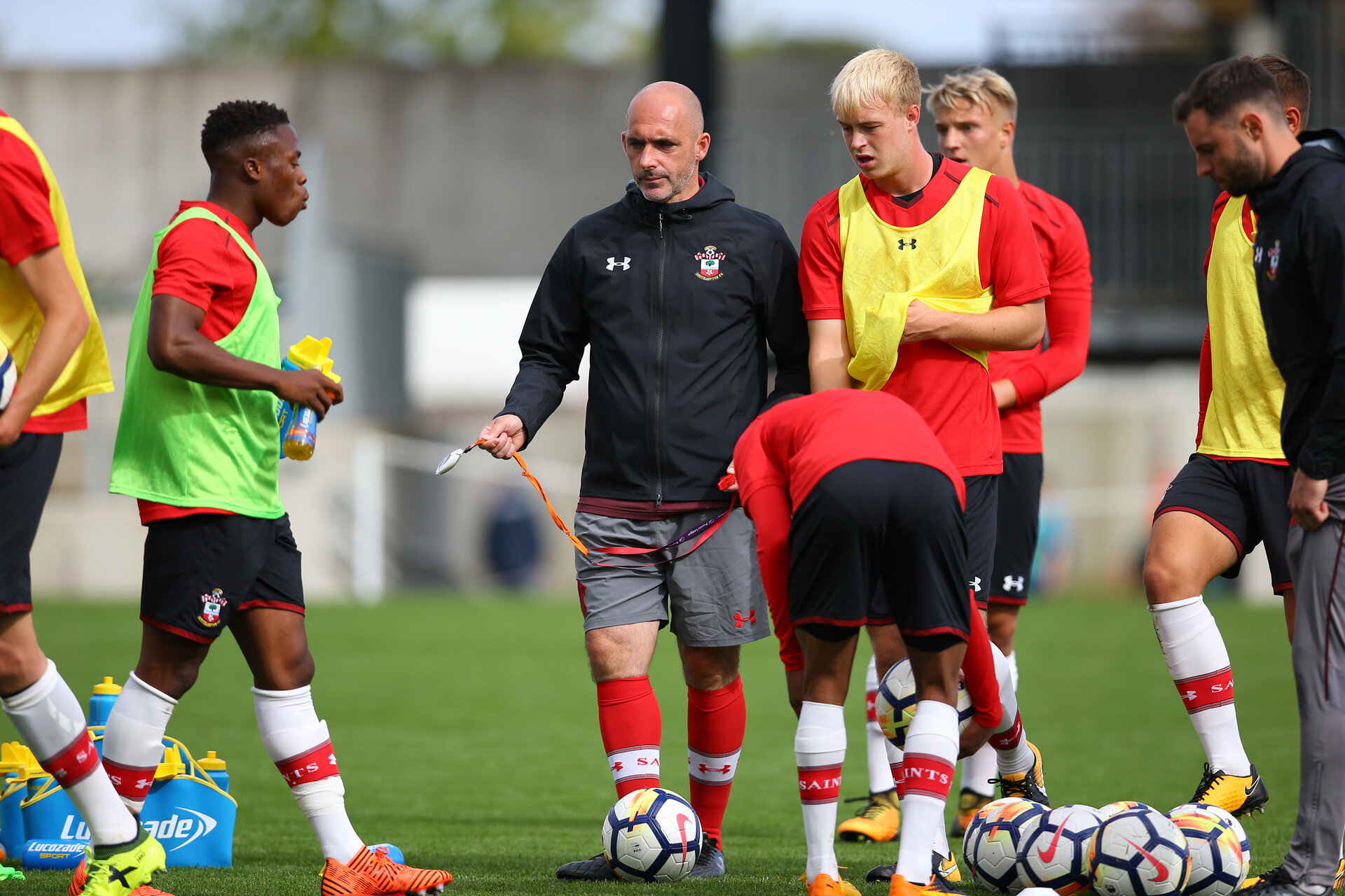SOUTHAMPTON, ENGLAND - SEPTEMBER 30: Southampton U18Õs Coach Craig Fleming prepares with the team ahead of the Under 18's Premier League match between Southampton FC and Swansea at Staplewood Training Ground on September 30, 2017 in Southampton, England. (Photo by James Bridle - Southampton FC/Southampton FC via Getty Images) SOUTHAMPTON, ENGLAND - SEPTEMBER 30: Southampton U18's Coach Craig Fleming prepares with the team ahead of the Under 18's Premier League match between Southampton FC and Swansea at Staplewood Training Ground on September 30, 2017 in Southampton, England. (Photo by James Bridle - Southampton FC/Southampton FC via Getty Images)