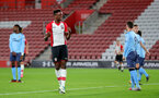 SOUTHAMPTON, ENGLAND - OCTOBER 16: Southampton's Jonathan Afolabi celebrates during the Premier League 2 match between Southampton U23 and Newcastle United U23, at St Mary's Stadium on October 16, 2017 in Southampton, England. (Photo by Matt Watson/Southampton FC via Getty Images)