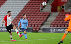 SOUTHAMPTON, ENGLAND - OCTOBER 16: Southampton's Sam McQueen heads in the third goal of the game during the Premier League 2 match between Southampton U23 and Newcastle United U23, at St Mary's Stadium on October 16, 2017 in Southampton, England. (Photo by Matt Watson/Southampton FC via Getty Images)