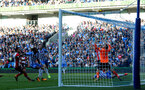BRIGHTON, ENGLAND - OCTOBER 29: Manolo Gabbiadini shoots over during the Premier League match between Brighton and Hove Albion and Southampton at the Amex Stadium on October 29, 2017 in Brighton, England. (Photo by Matt Watson/Southampton FC via Getty Images)