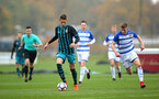 SOUTHAMPTON, ENGLAND - NOVEMBER 18: Will Smallbone of Southampton FC (middle) during the U18s Premier League South  between Southampton FC & Reading FC match on November 18, 2017 in Southampton, England. (Photo by James Bridle - Southampton FC/Southampton FC via Getty Images)
