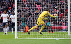 LONDON, ENGLAND - DECEMBER 26: Tottenham goalkeeper Hugo Lloris saves on the line during the Premier League match between Tottenham Hotspur and Southampton at Wembley Stadium on December 26, 2017 in London, England. (Photo by Matt Watson/Southampton FC via Getty Images)