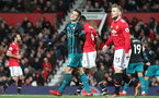 MANCHESTER, ENGLAND - DECEMBER 30: Southampton's Dusan Tadic during the Premier League match between Manchester United and Southampton at Old Trafford on December 30, 2017 in Manchester, England. (Photo by Matt Watson/Southampton FC via Getty Images)