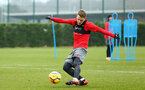 SOUTHAMPTON, ENGLAND - JANUARY 11: Steven Davis (middle) during a Southampton FC training session at Staplewood Complex on January 11, 2018 in Southampton, England. (Photo by James Bridle - Southampton FC/Southampton FC via Getty Images)