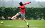 SOUTHAMPTON, ENGLAND - JANUARY 11: Sam McQueen (middle) during a Southampton FC training session at Staplewood Complex on January 11, 2018 in Southampton, England. (Photo by James Bridle - Southampton FC/Southampton FC via Getty Images)