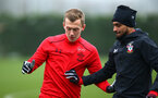 SOUTHAMPTON, ENGLAND - JANUARY 11: (L-R) James Ward-Prowse, Sofiane Boufal, during a Southampton FC training session at Staplewood Complex on January 11, 2018 in Southampton, England. (Photo by James Bridle - Southampton FC/Southampton FC via Getty Images)