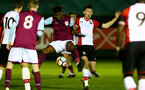 Thomas O'Connor(R) of Southampton during the U23 Premier League 2 match between Southampton and Aston Villa, 15th January 2018, pic by James Bridle