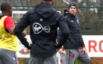 SOUTHAMPTON, ENGLAND - JANUARY 23: Mauricio Pellegrino (right) during an Southampton FC Training session on January 23, 2018 in London, England. (Photo by James Bridle - Southampton FC/Southampton FC via Getty Images)